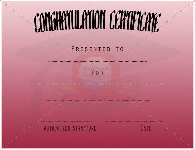 Congratulation Certificate Templates | Certificate Template ...