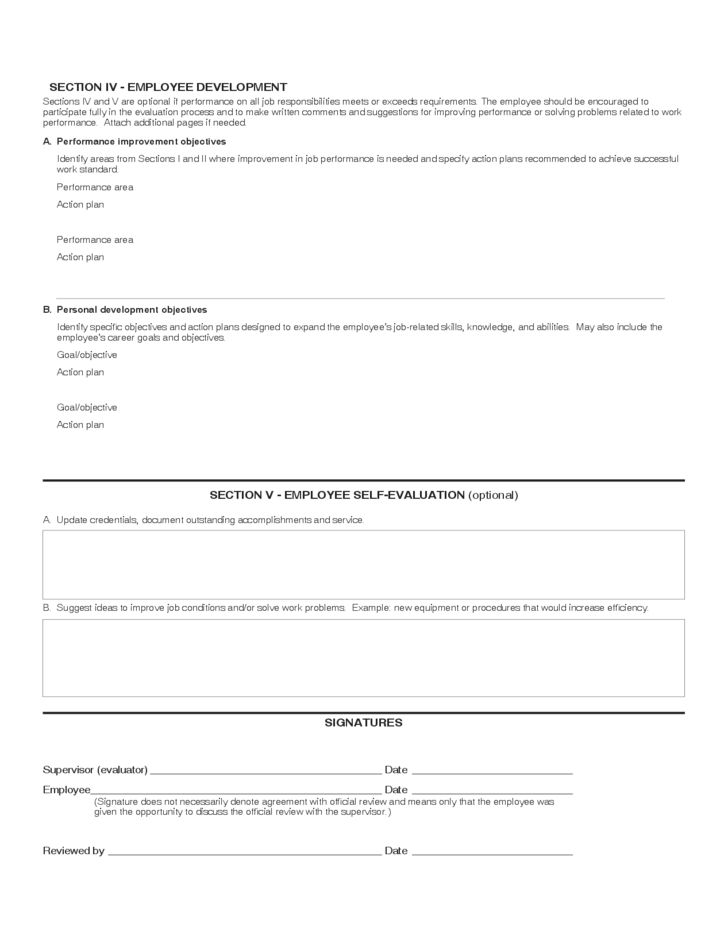 Classified Employee Performance Assessment Free Download