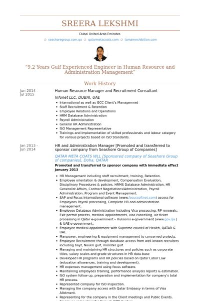 sample experienced hr professional consultant resume 15 best