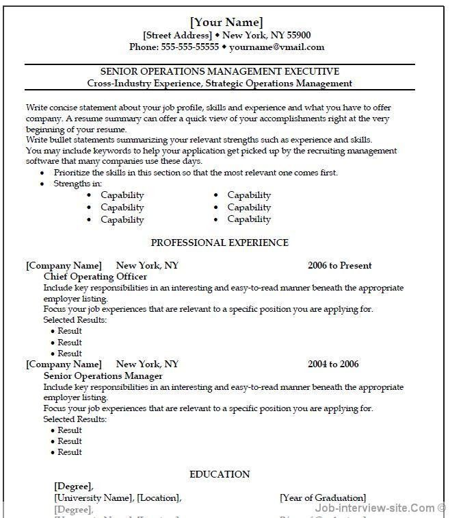resume template microsoft word free 40 top professional resume ...