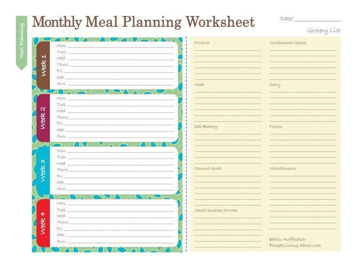 Best 25+ Monthly meal planner ideas on Pinterest | Monthly menu ...