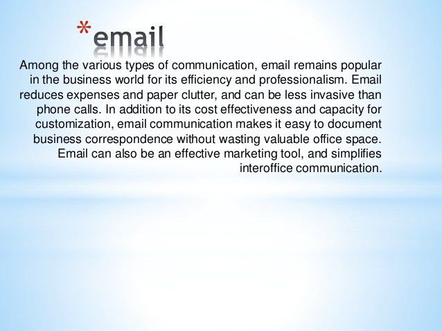 Business communication-email