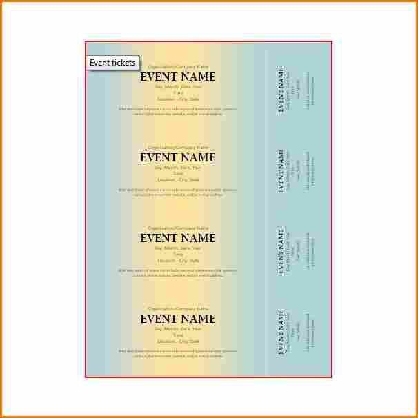 Free Event Ticket Templates. event ticket template free event ...
