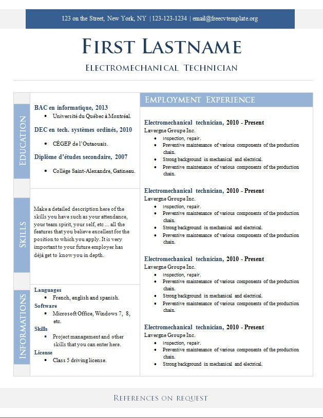 resume editor free resume for