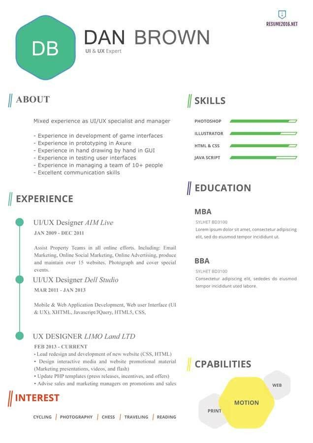 20 awesome resume templates 2016 • Get employed today!