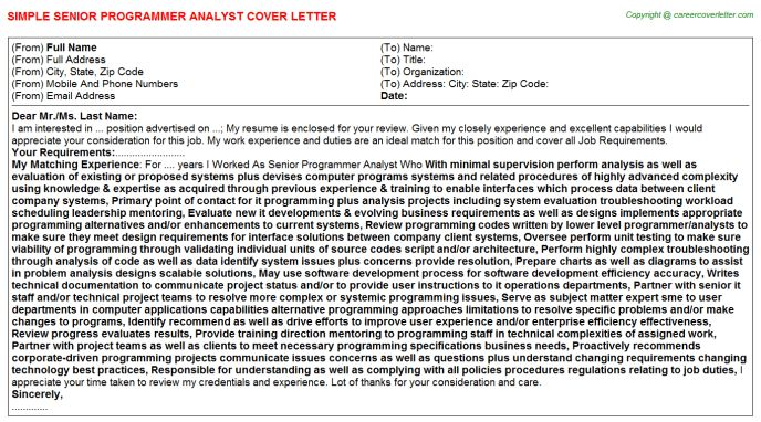 senior programmer analyst cover letter hashdoc with 15 surprising ...