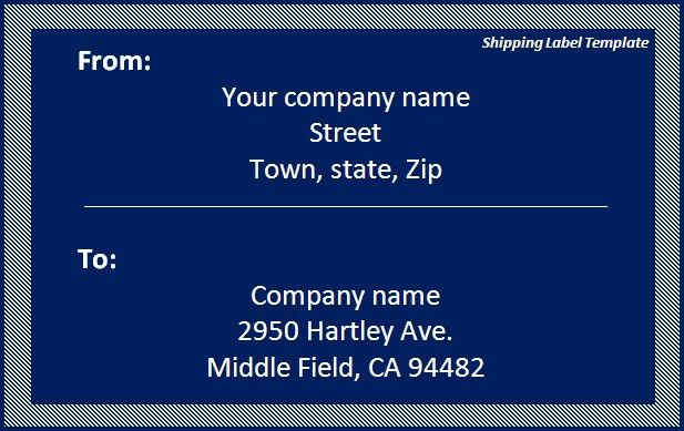 Shipping Label Template Download Template | Word Excel PDF