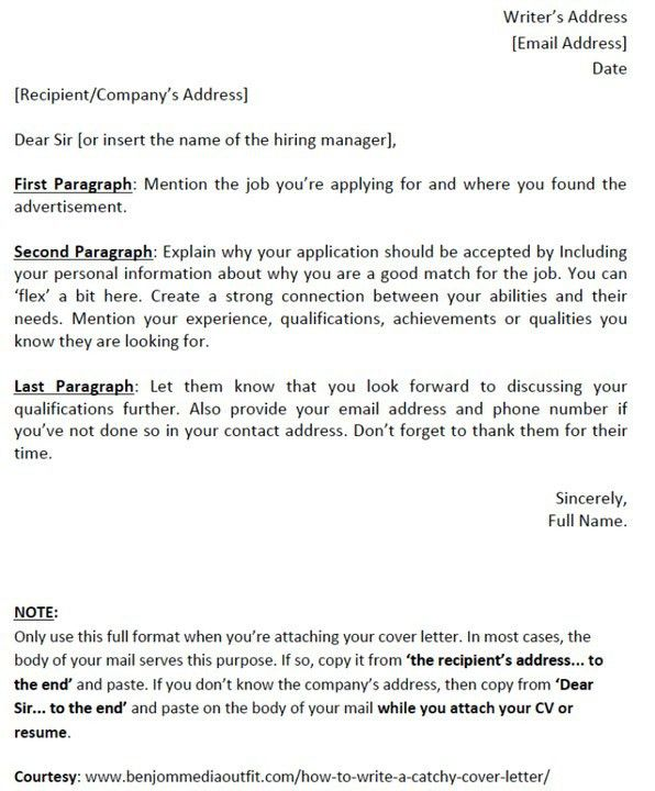 How To Write A Catchy Cover Letter [template Included] - Jobs ...