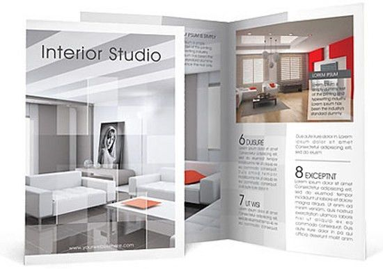 Interior Designer Brochure Word Template Publisher Template With ...