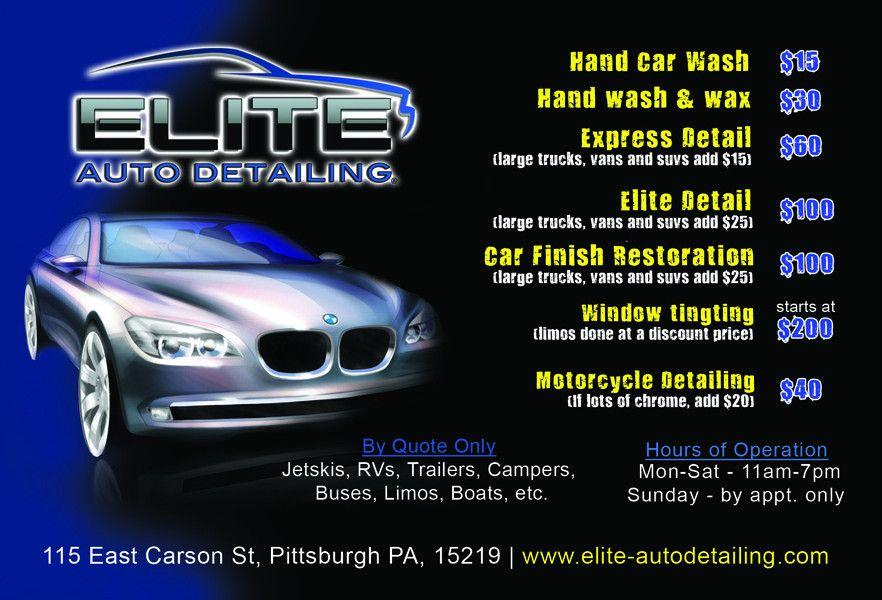 9 Best Images of Car Detailing Flyer - Mobile Car Wash Flyer ...