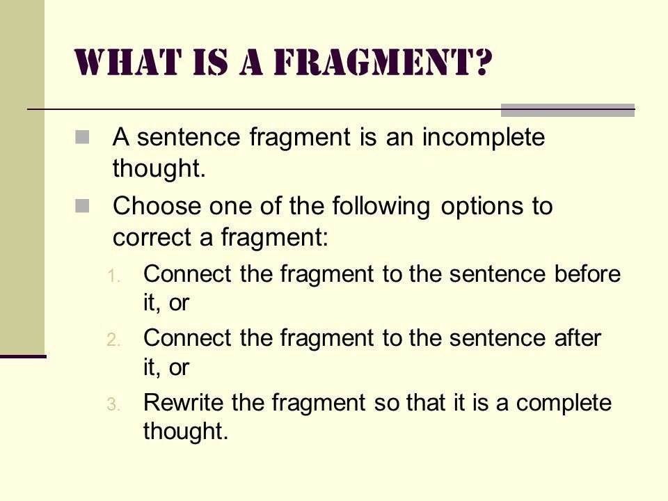 Grammar Boot Camp Obstacle Course: Fragments, Run-ons, Comma ...
