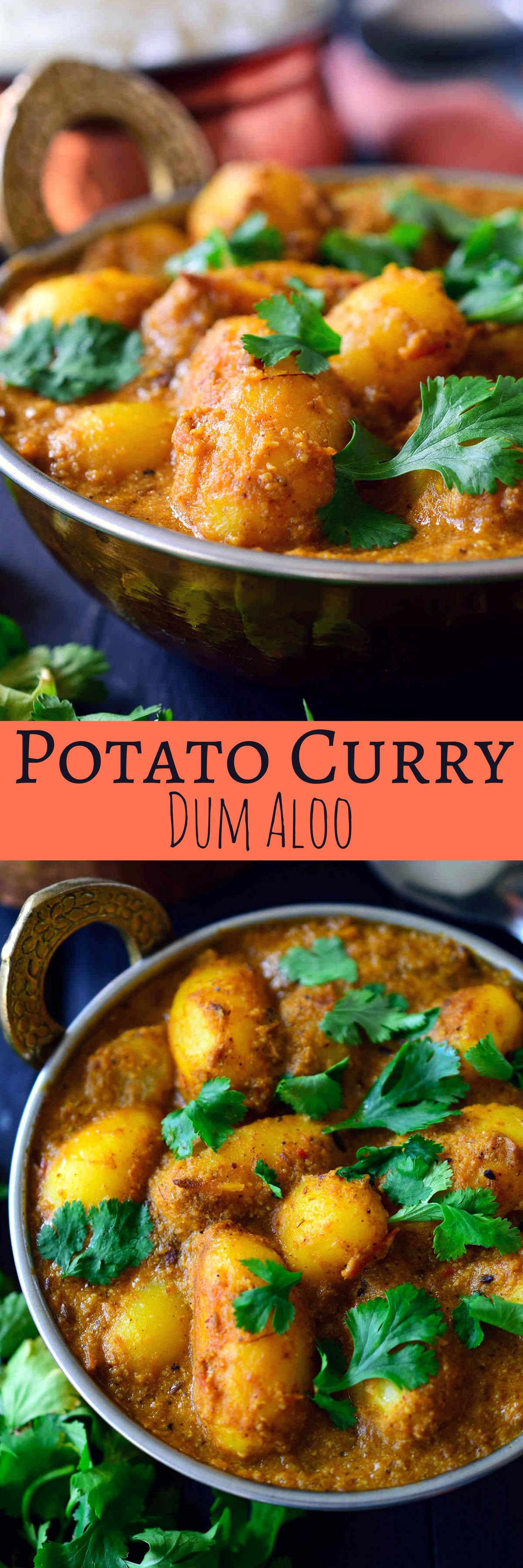 This spicy vegan potato curry