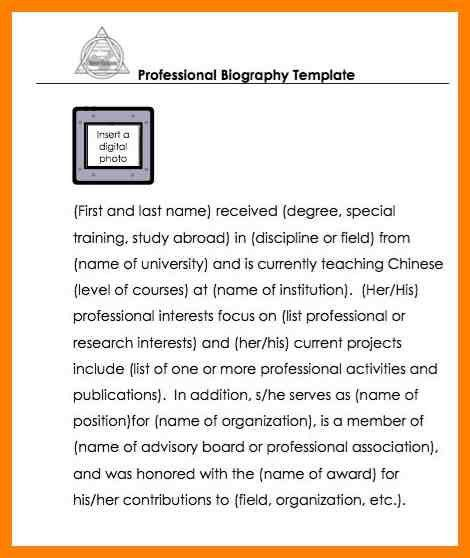 Template Of Biography. best 25 autobiography template ideas on ...