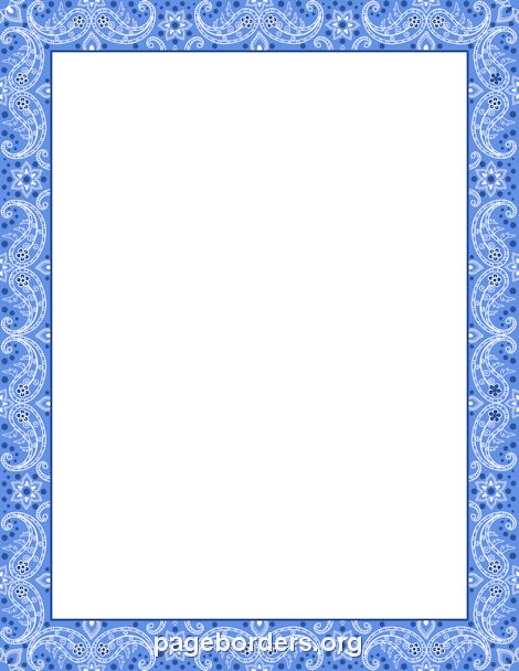 Printable blue bandana border. Use the border in Microsoft Word or ...