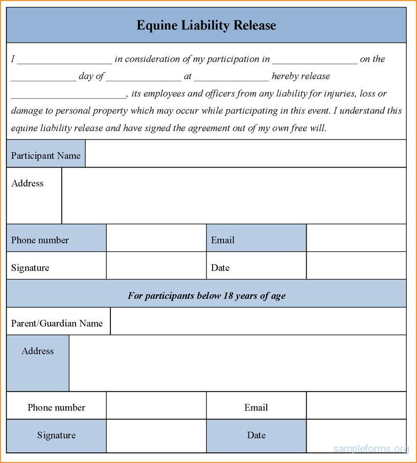 Release Of Liability Form.liability Release Form Sample 490.png ...