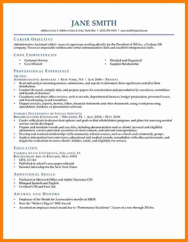 examples of resume objectives for high school students best for ...