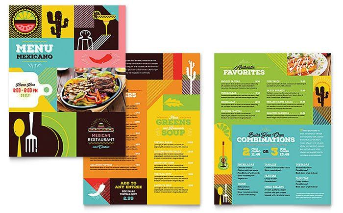 Mexican Food & Cantina Menu Template - Word & Publisher