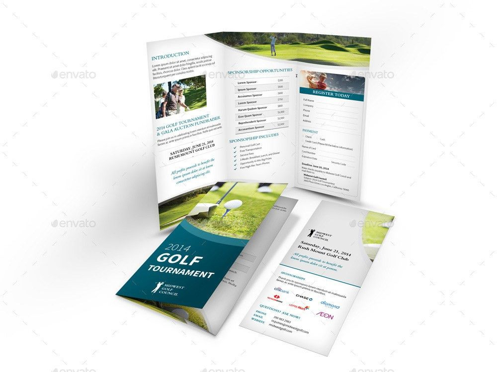 Golf Tournament Trifold Brochure by Mike_pantone | GraphicRiver