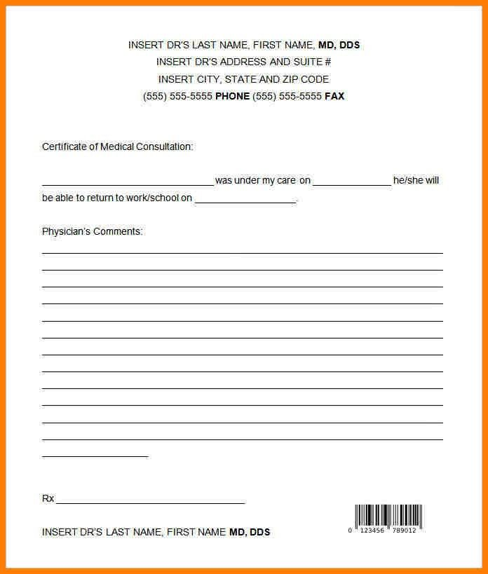 Urgent Care Doctors Note Template.Dentist Doctor Note Template ...
