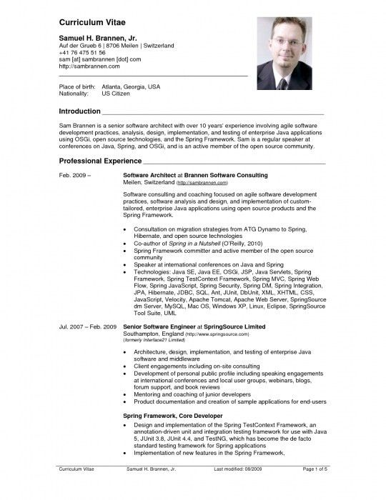 The Most Elegant Curriculum Vitae Resume Sample | Resume Format Web
