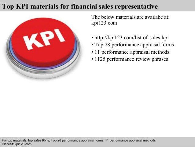 Financial sales representative kpi