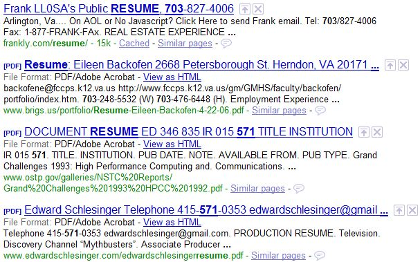 How to Find Resumes on the Internet with Google | Boolean Black ...