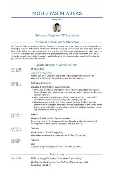 engineering executive resume