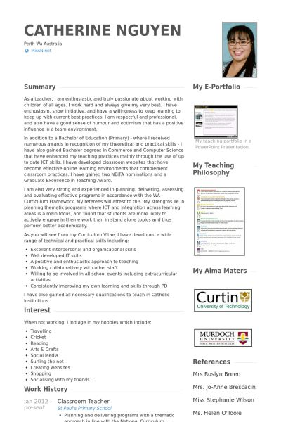 18+ [ Teacher Resume Template Microsoft Word ] | 6 How To Write A ...