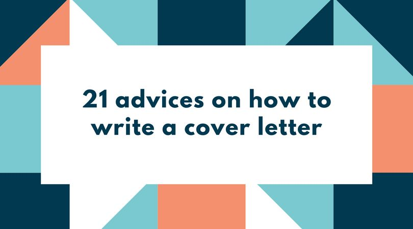 21 advices on how to write a cover letter - FREE Resume Review ...