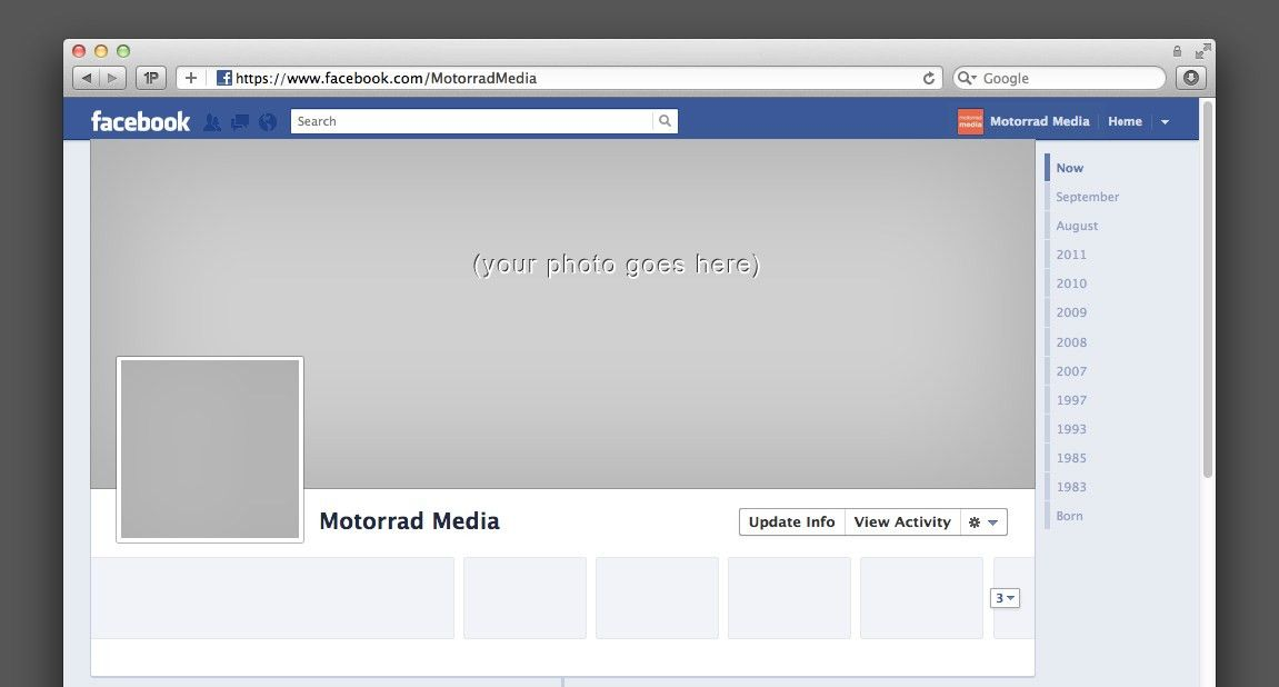 10 Creative Facebook Coverphotos - Motorrad Media | Motorrad Media