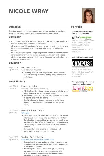 Library Assistant Resume samples - VisualCV resume samples database
