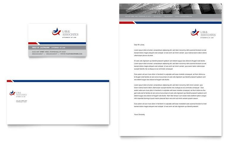 Legal & Government Services Business Card & Letterhead Template ...