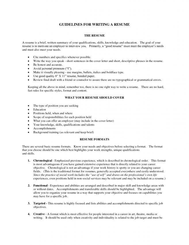 to write resume example templates example writing summary good