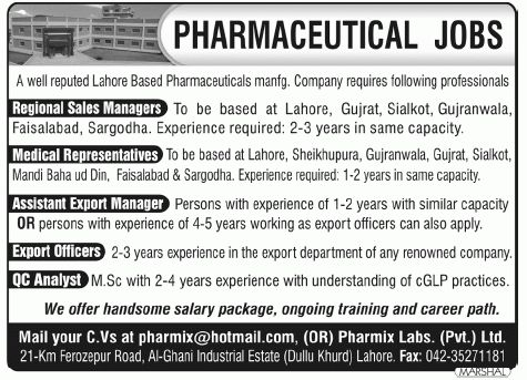 Regional Sales Manager, Medical Representatives Required 2017 Jobs ...