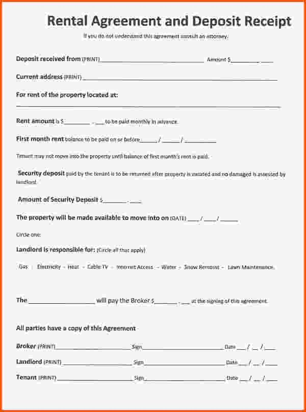 5+ free rental agreement template | Survey Template Words