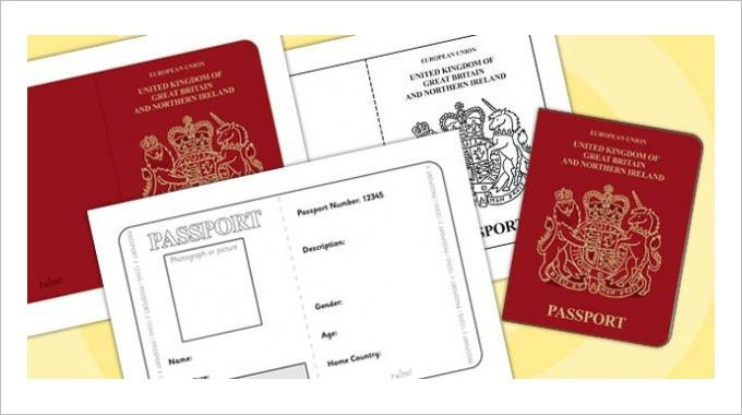 British passport template passport template 19 free word pdf psd passport template 19 free word pdf psd illustrator format pronofoot35fo Image collections