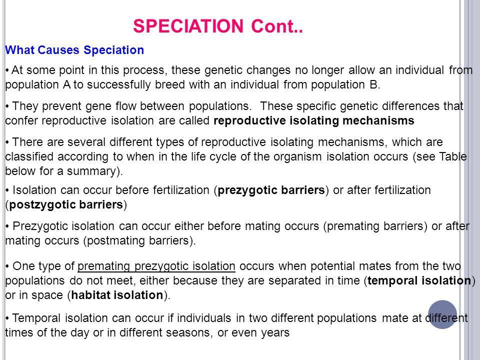 Evolution of Eukaryotic Genome Gene 342 Lecture 15 – Speciation ...