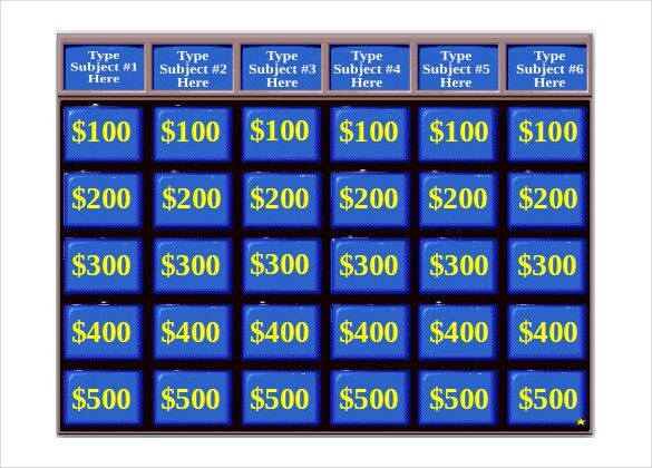 Jeopardy Game Template - 10+ Free PPT, PPTX, Documents Download ...