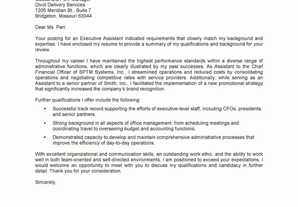 Outstanding Cover Letters executive assistant sample cover letter ...