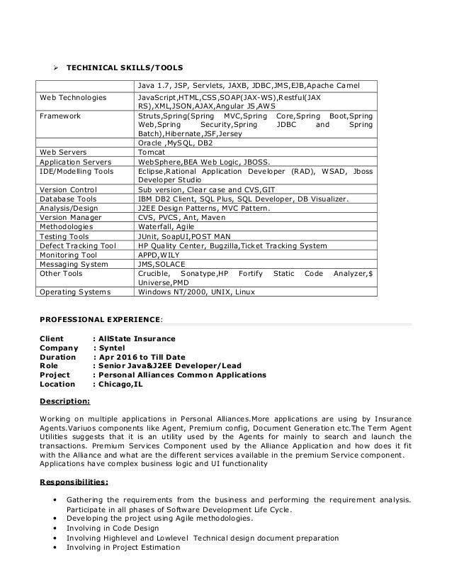Java Developer Resume. Chitselb Resume Pdf Java Developer Resume ...