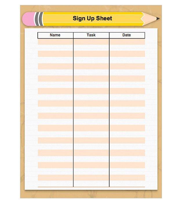 Back-to-School Sign-Up Sheet   preschool   Pinterest   School ...