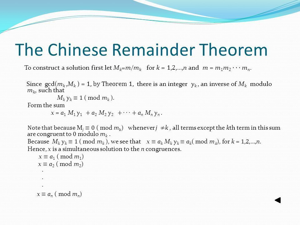 Number Theory and Cryptography - ppt download