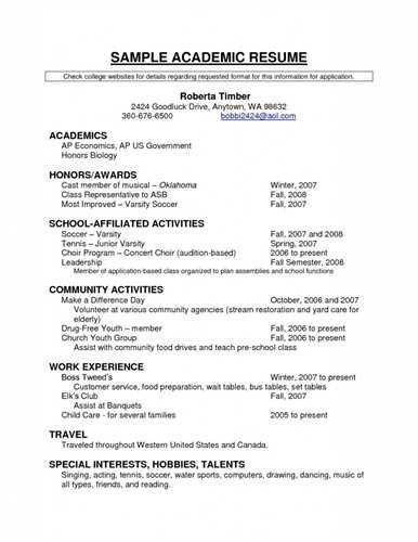 academic resume template - thebridgesummit.co