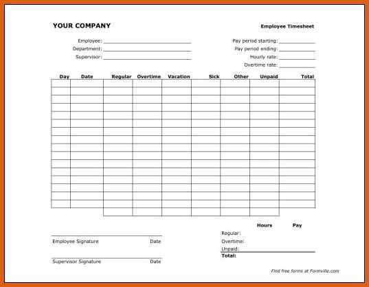 Free Blank Time Sheets - formats.csat.co