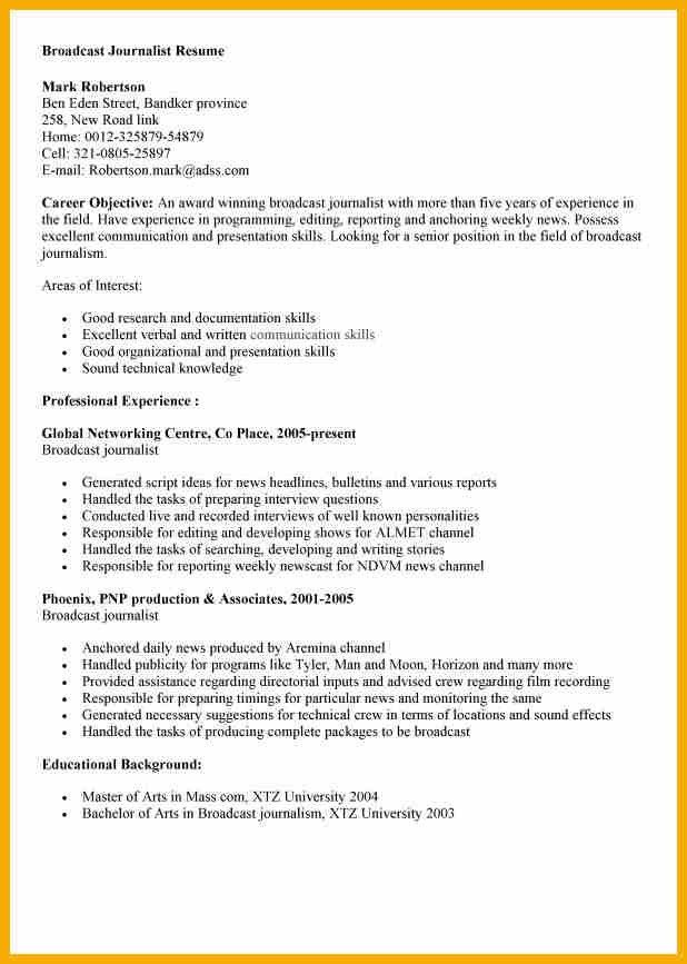 News Reporter Resume fine broadcast journalism internship resume - Court Reporter Resume Samples