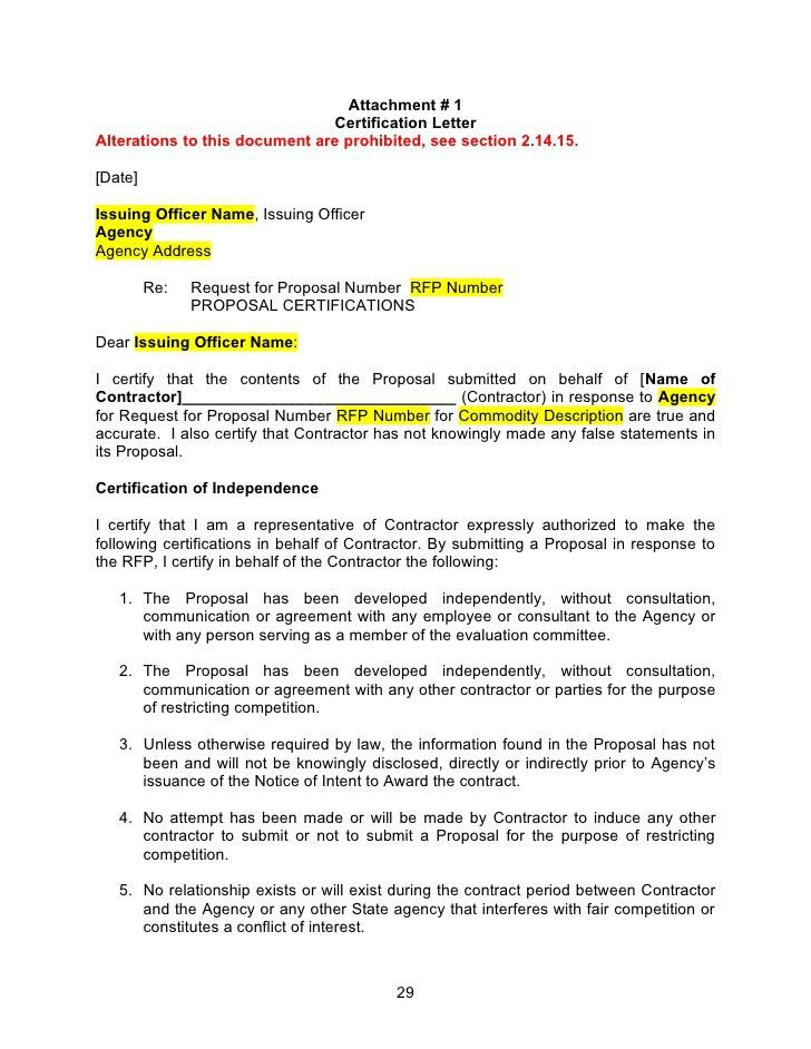 RFP Template - Word Document