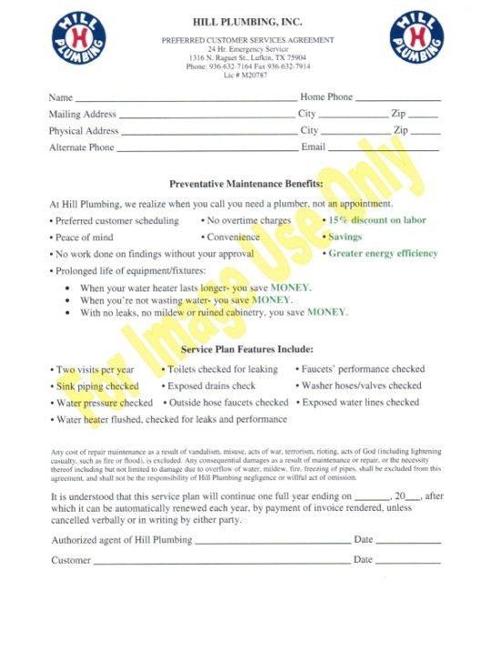 Preferred Customer Service Agreement