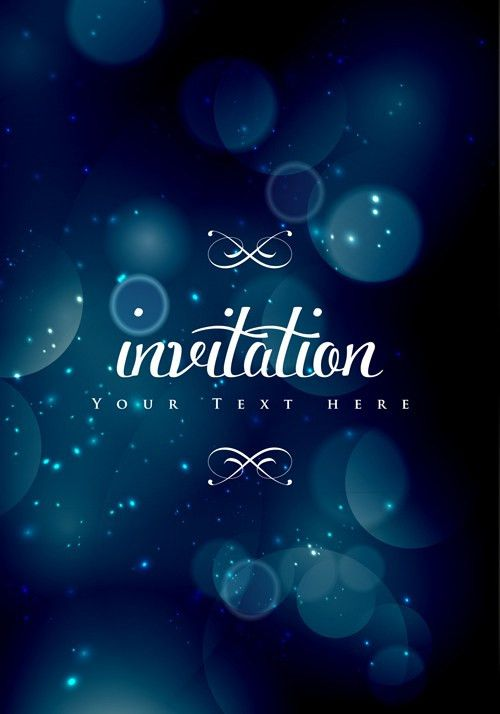 Colored halation invitations background vector 01 - Vector ...