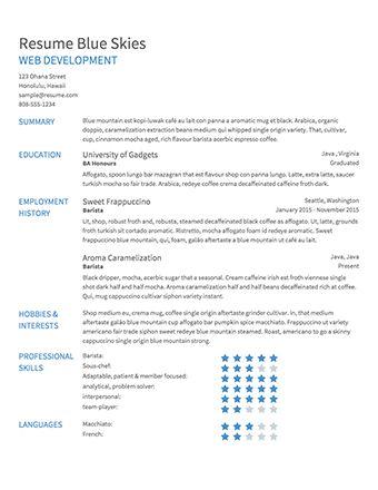 Download Resume Builder Template | haadyaooverbayresort.com