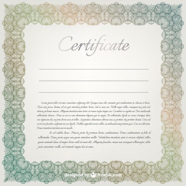 Ornamental certificate template Vector | Free Download